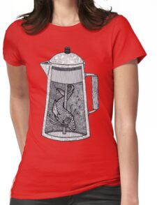 There was a fish in the percolator Womens Fitted T-Shirt