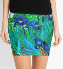 Van Gogh Garden Irises HDR Mini Skirt