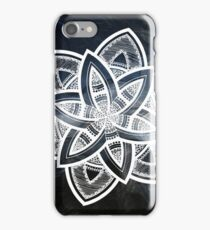 Authentic blue and white hand drawn mandala iPhone Case/Skin