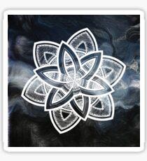 Authentic blue and white hand drawn mandala Sticker