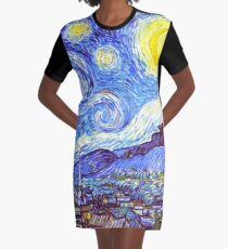 'The Starry Night' HDR Graphic T-Shirt Dress
