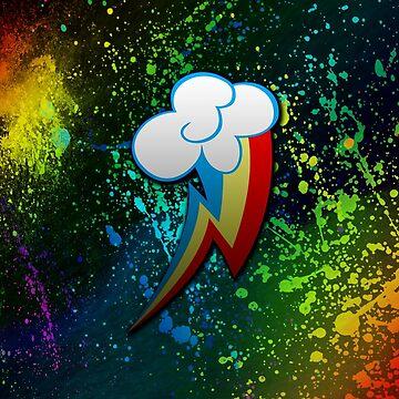 Rainbow Dash Cutie Mark  by TickleBerryDude