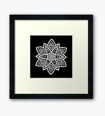 Wholness black and white mandala Framed Print