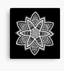Wholness black and white mandala Canvas Print