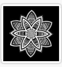 Wholness black and white mandala Sticker
