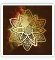 Spiritual vision golden mandala Sticker