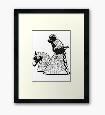 The Kelpies (Black and White) Framed Print