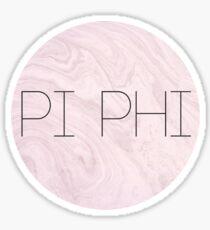 PI PHI PINK Sticker