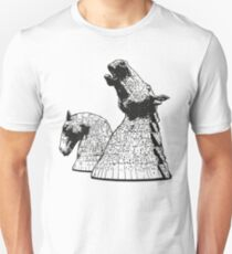 The Kelpies (Black and White) Slim Fit T-Shirt