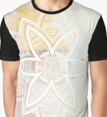With the universe pink and white hand drawn mandala Graphic T-Shirt