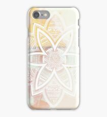 With the universe pink and white hand drawn mandala iPhone Case/Skin