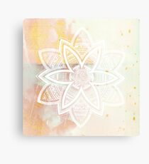 With the universe pink and white hand drawn mandala Canvas Print