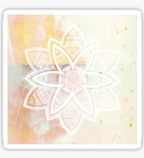 With the universe pink and white hand drawn mandala Sticker