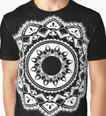 Cellular black and white mandala Graphic T-Shirt