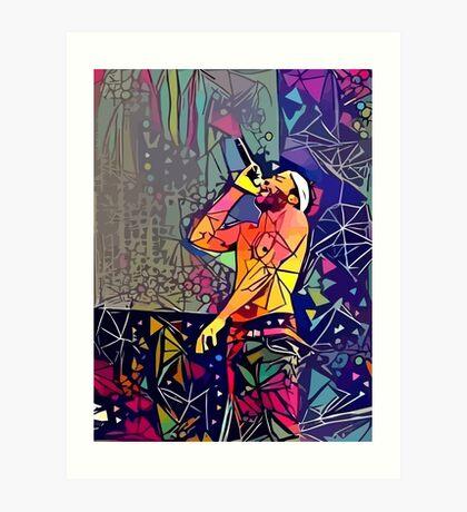 Abstract Childish Gambino Art Print