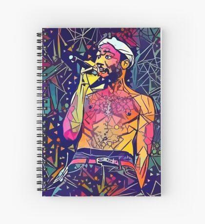 Abstract Singing Gambino Spiral Notebook