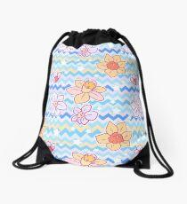 Daffodil Chevron Pattern Drawstring Bag
