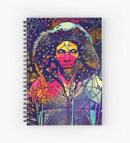 Abstract Hooded Gambino Spiral Notebook