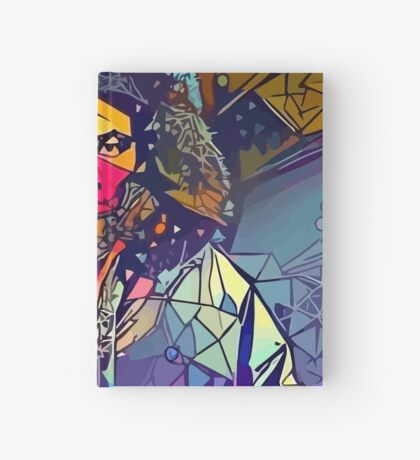 Abstract Hooded Gambino Hardcover Journal