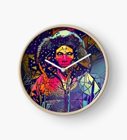 Abstract Hooded Gambino Clock