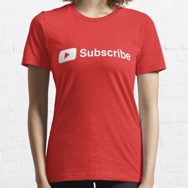 Youtuber Subscribe Play Button Vlogger Design Essential T-Shirt