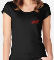 STI Classic Red Poket Women's Fitted Scoop T-Shirt