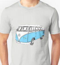 VW Bus Westphalia Volks Wagen Baby blue Unisex T-Shirt