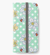 Polk-a-dot Daffodil Pattern iPhone Wallet/Case/Skin