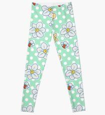 Polk-a-dot Daffodil Pattern Leggings