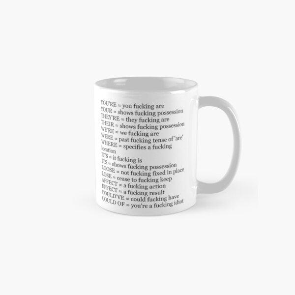 Angry Grammar Classic Mug