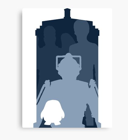 Doctor who cutout TARDIS Canvas Print