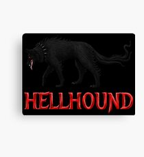Hellhound Black Dog Version Canvas Print