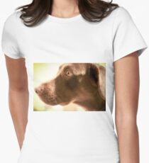 Alert Chocolate Lab Women's Fitted T-Shirt