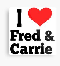 I Love Fred And Carrie - Portlandia Metal Print