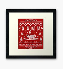 Coffee Lovers Ugly Sweater Framed Print