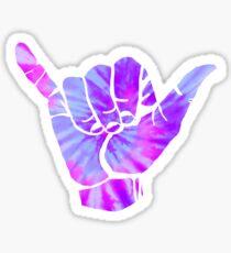 white n purple tie dye hand~~~ Sticker
