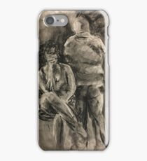 charcoal figure drawing iPhone Case/Skin