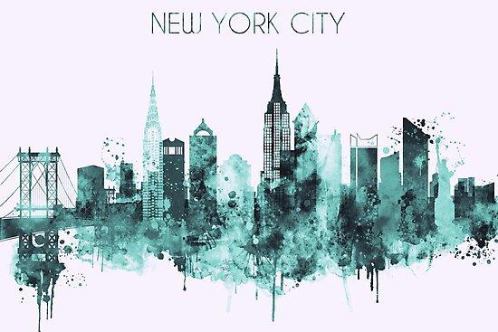 New York skyline,Wall art, New York skyline,  Home Decor, Digital Print, Unframed print,New York accessories by DimDom