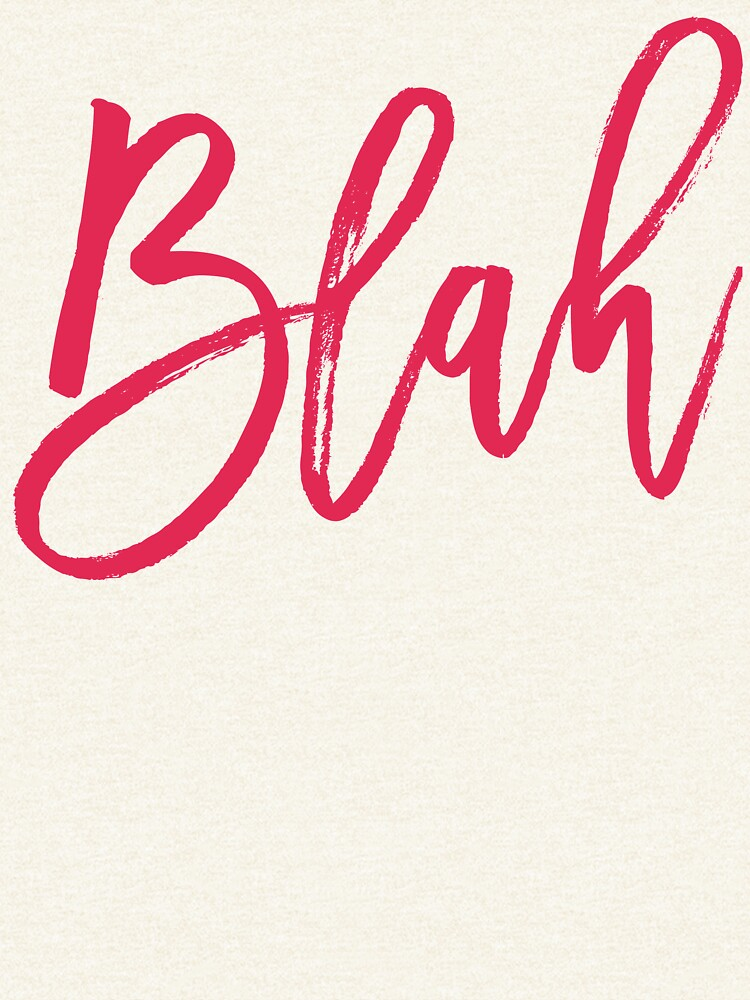 Blah hand brush lettering by mirunasfia