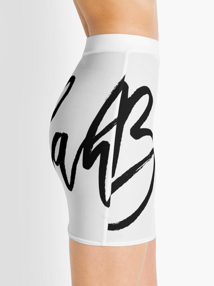 Alternate view of Blah hand brush lettering in black Mini Skirt