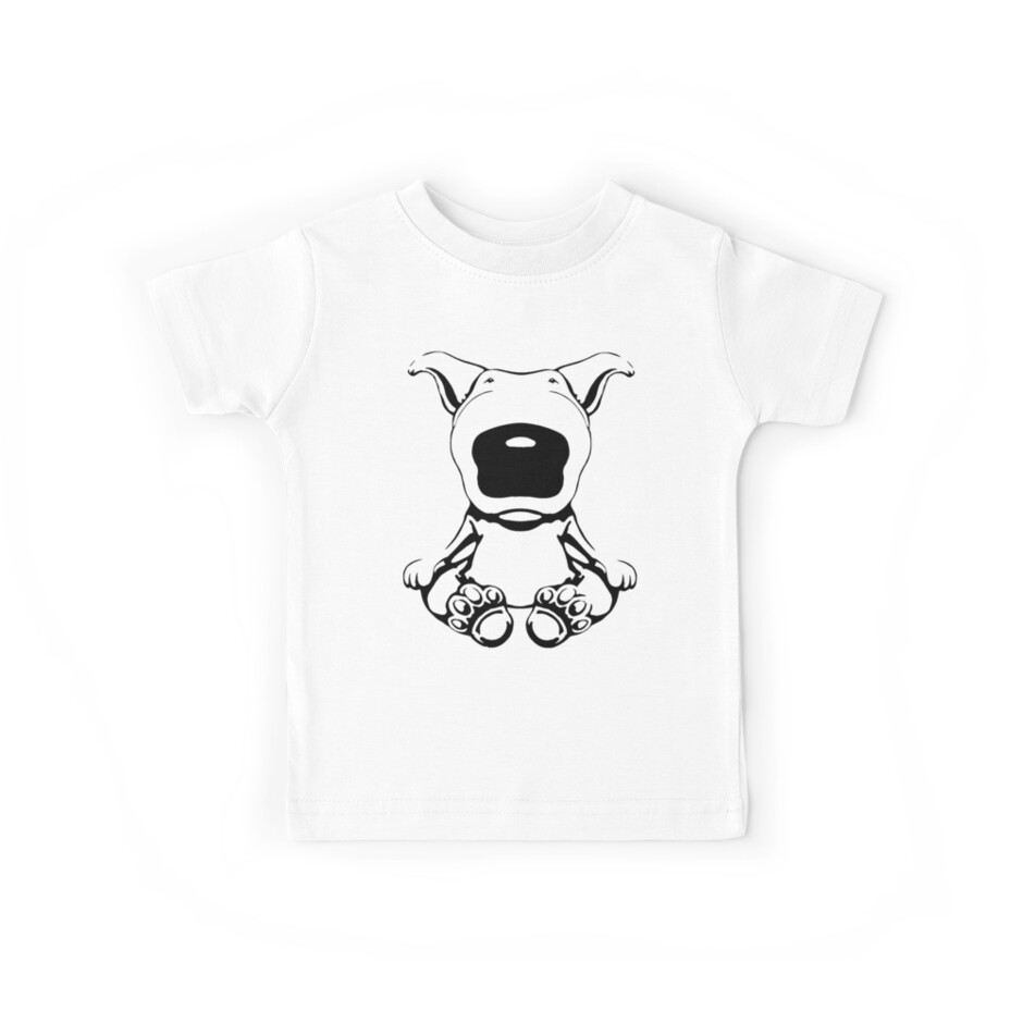 English Bull Terrier Sit Design by Sookiesooker