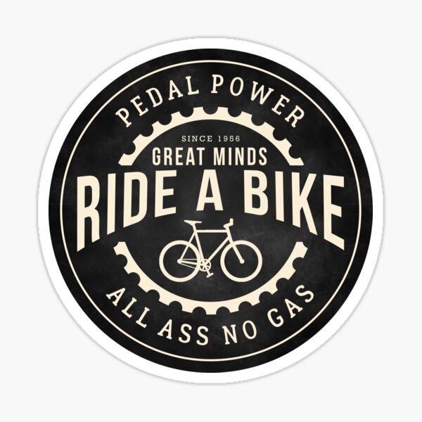 Grandes mentes andan en bicicleta Pegatina