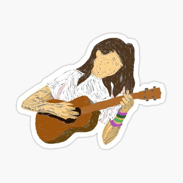 doddleoddle Ukulele Art  Sticker
