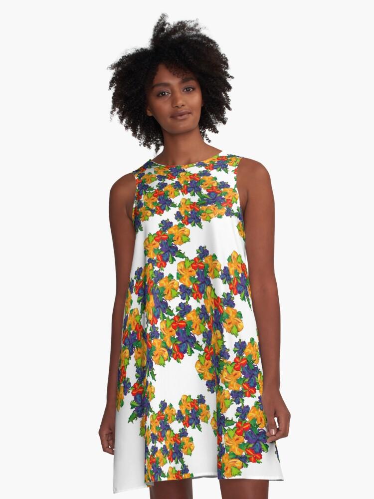 Flowers *pattern* A-Line Dress Front