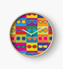 Pop Art Eyeglasses Clock