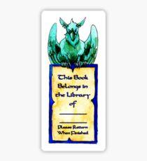 Green Gryphon Bookplate Sticker
