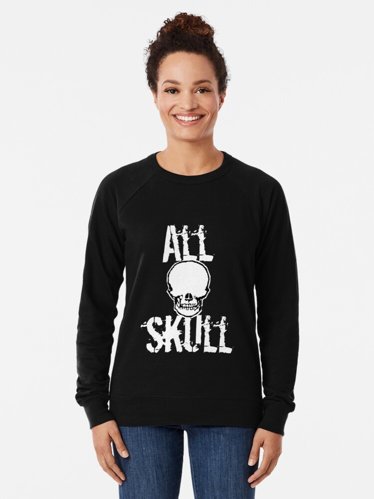 Alternate view of All Skull - The Dark Side Lightweight Sweatshirt