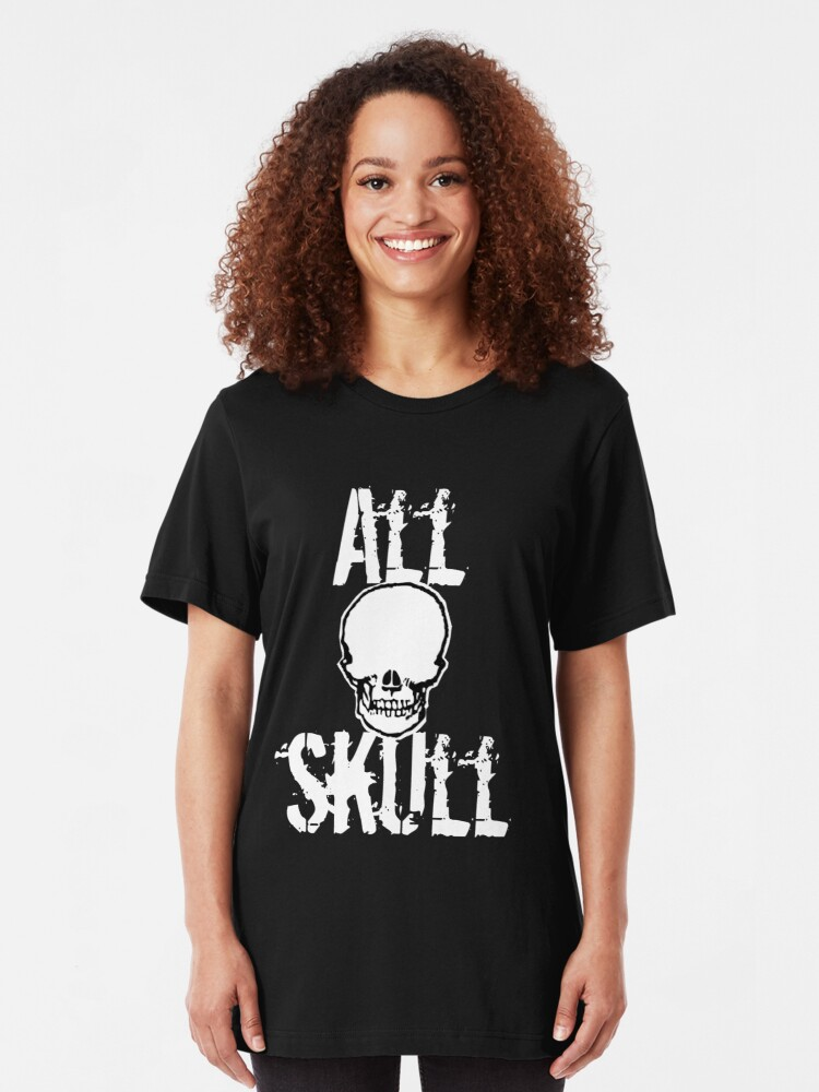 Alternate view of All Skull - The Dark Side Slim Fit T-Shirt