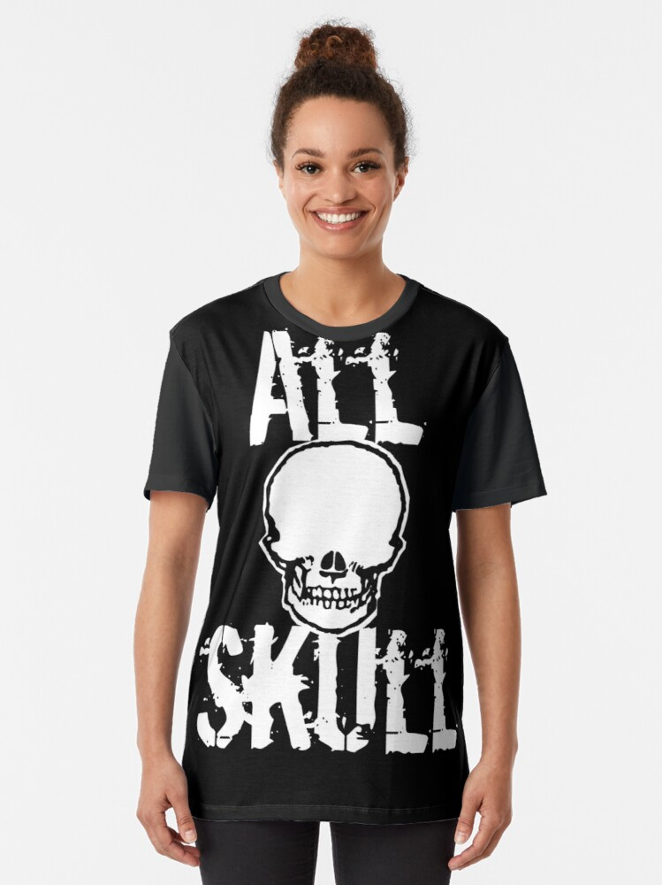 Alternate view of All Skull - The Dark Side Graphic T-Shirt