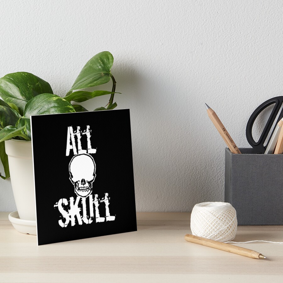 All Skull - The Dark Side Art Board Print